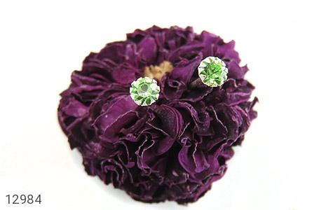 گوشواره نقره گل گوش سبز زنانه - عکس 5