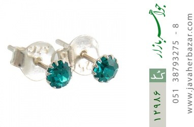 گوشواره نقره گل گوش جذاب زنانه - کد 12986