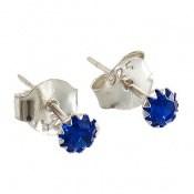 گوشواره نقره گل گوش آبی زنانه