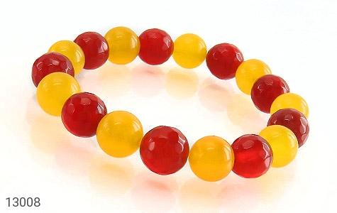 دستبند عقیق و جید خوش رنگ زنانه - عکس 1