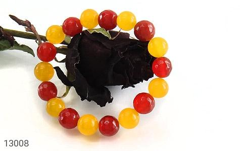 دستبند عقیق و جید خوش رنگ زنانه - عکس 3