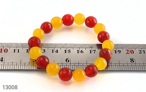 دستبند عقیق و جید خوش رنگ زنانه - تصویر 4