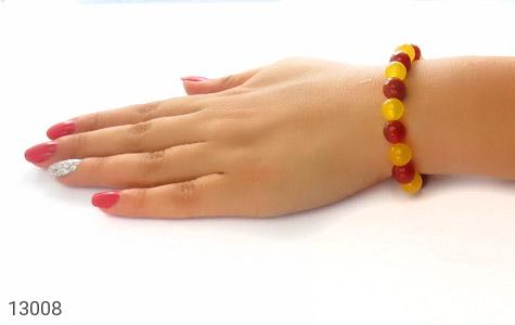 دستبند عقیق و جید خوش رنگ زنانه - عکس 5