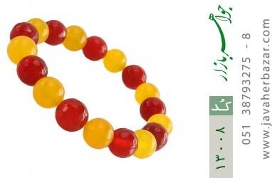 دستبند عقیق و جید خوش رنگ زنانه - کد 13008