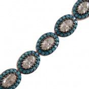 دستبند نقره نانویی طرح جمیل زنانه