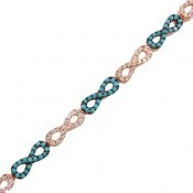 دستبند نقره نانویی طرح پاپیون زنانه