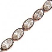 دستبند نقره نانویی طرح الماس نشان زنانه