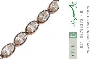 دستبند نقره نانویی طرح الماس نشان زنانه - کد 13080