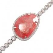 دستبند نقره درشت طرح سمیرا زنانه
