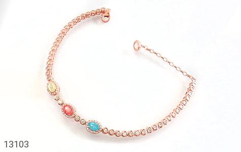 دستبند نقره درخشان طرح آیناز زنانه - عکس 1