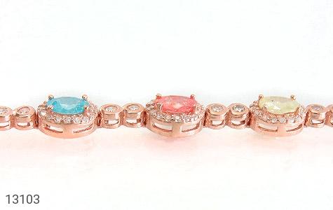 دستبند نقره درخشان طرح آیناز زنانه - تصویر 2