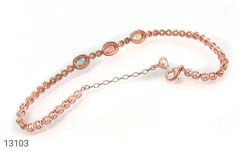 دستبند نقره درخشان طرح آیناز زنانه - عکس 3