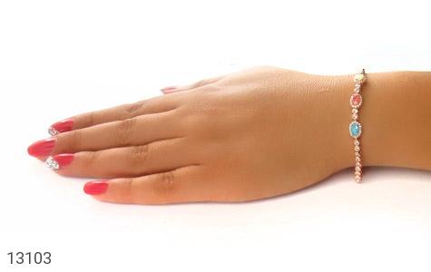 دستبند نقره درخشان طرح آیناز زنانه - عکس 7