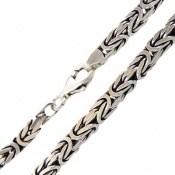 دستبند نقره درشت طرح ماری مردانه