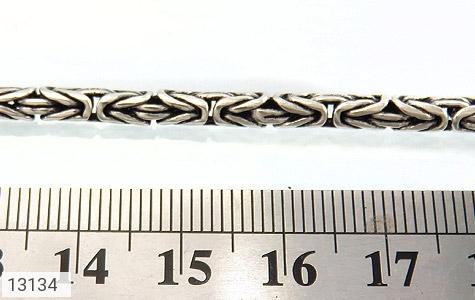 زنجیر نقره درشت طرح ماری سنگین 55 سانتی - عکس 5