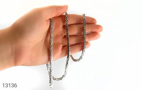 زنجیر نقره درشت طرح ماری متوسط 60 سانتی - تصویر 4