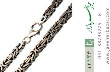 زنجیر نقره درشت طرح ماری متوسط 60 سانتی - کد 13136
