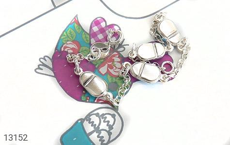 دستبند نقره میناکاری طرح صبا بچه گانه - تصویر 2