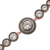 دستبند نقره آسانسوری طرح ملیکا زنانه