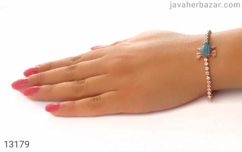 دستبند نقره پرنگین فانتزی طرح قورباغه زنانه - عکس 7