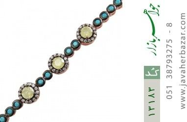 دستبند نقره درخشان طرح بهاره زنانه