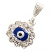 مدال نقره چشم زخم طرح پرنگین زنانه