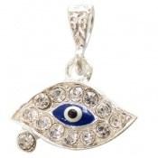 مدال نقره چشم زخم پرنگین درخشان