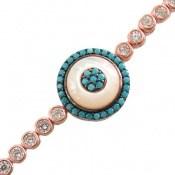 دستبند نقره آسانسوری طرح هورتاش زنانه