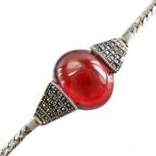 دستبند نقره و مارکازیت درشت طرح شایسته زنانه