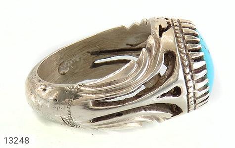 انگشتر فیروزه نیشابوری لوکس - عکس 3