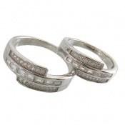 حلقه ازدواج نقره طرح بهراد