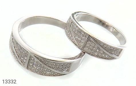 حلقه ازدواج نقره طرح باراد - عکس 1