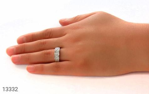 حلقه ازدواج نقره طرح باراد - عکس 7