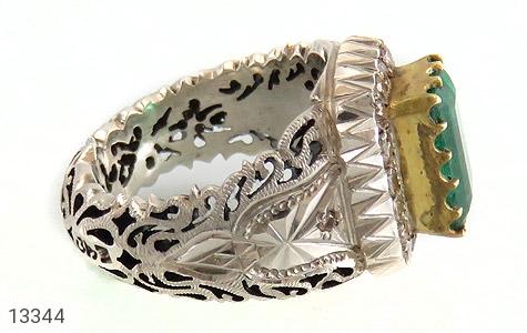 انگشتر الماس و زمرد پنجشیر افغانستان لوکس هنر دست استاد رحمانی - تصویر 4