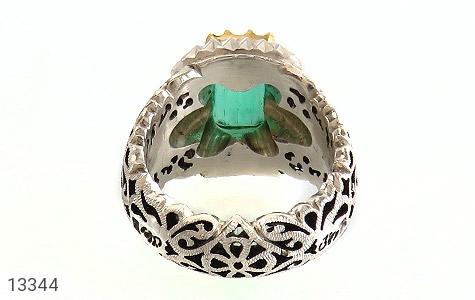 انگشتر الماس و زمرد پنجشیر افغانستان لوکس هنر دست استاد رحمانی - عکس 5