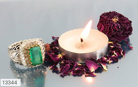 انگشتر الماس و زمرد پنجشیر افغانستان لوکس هنر دست استاد رحمانی - تصویر 6