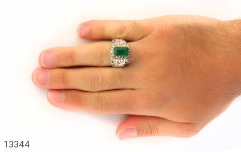 انگشتر الماس و زمرد پنجشیر افغانستان لوکس هنر دست استاد رحمانی - تصویر 8