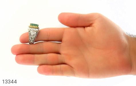 انگشتر الماس و زمرد پنجشیر افغانستان لوکس هنر دست استاد رحمانی - عکس 9