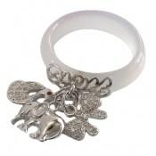 انگشتر عقیق و نقره آویز فیل و پروانه و قو زنانه