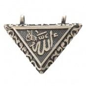 مدال نقره جادعایی بازشو طرح مثلثی حکاکی وان یکاد