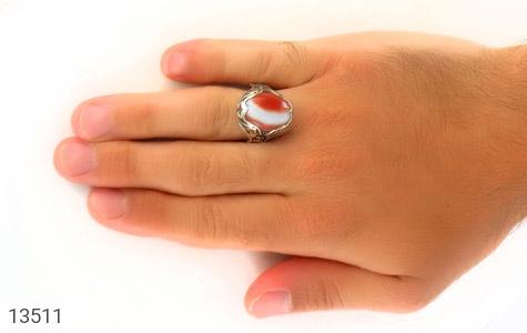 انگشتر عقیق درشت طرح غروب مردانه - عکس 7