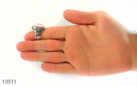انگشتر عقیق درشت طرح غروب مردانه - تصویر 8