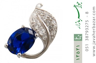 مدال نقره طرح گلبرگ زنانه - کد 13521