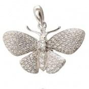 مدال نقره فانتزی طرح پروانه زنانه