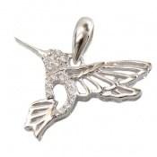 مدال نقره فانتزی طرح پرنده زنانه