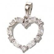 مدال نقره طرح قلب پرنگین پرنسسی زنانه