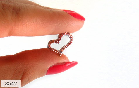 مدال نقره طرح قلب زنانه - تصویر 6