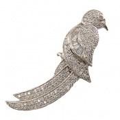 مدال نقره طرح پرنده زیبا زنانه