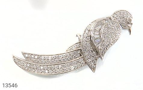 مدال نقره طرح پرنده زیبا زنانه - عکس 1