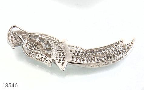 مدال نقره طرح پرنده زیبا زنانه - عکس 3